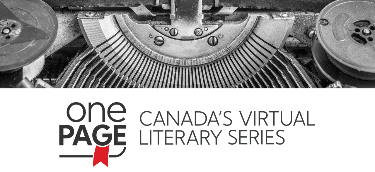 One page canada's virtual literary series banner